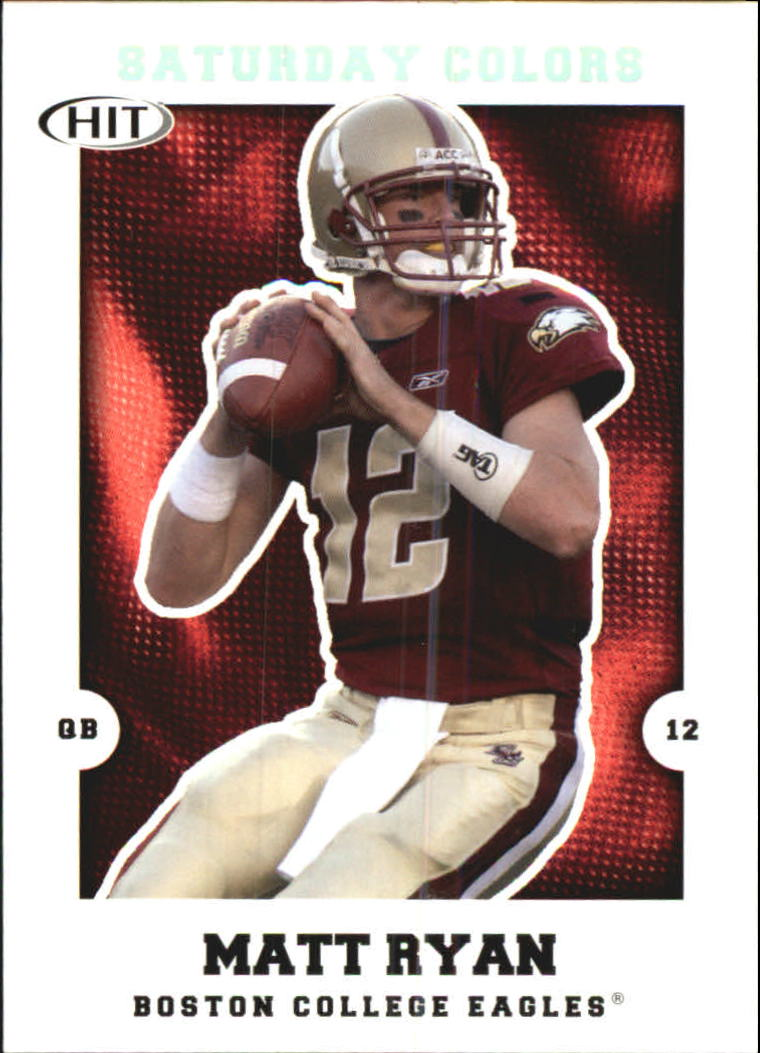 2008 SAGE HIT Saturday Colors #S1 Matt Ryan