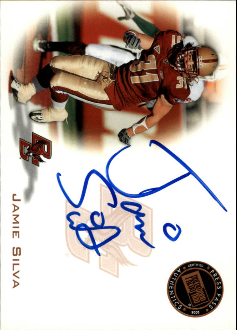 2008 Press Pass Autographs Bronze #PPSJS2 Jamie Silva