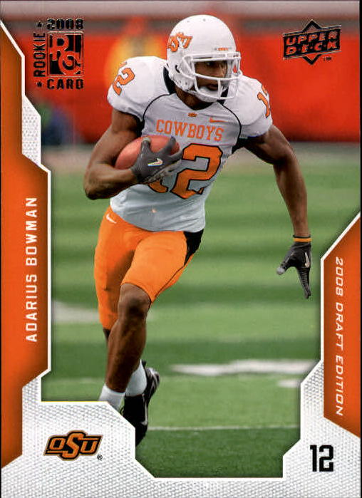 2008 Upper Deck Draft Edition #2 Adarius Bowman RC