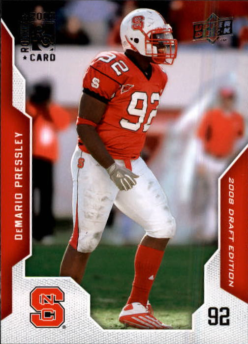 2008 Upper Deck Draft Edition #23 DeMario Pressley RC
