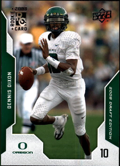 2008 Upper Deck Draft Edition #24 Dennis Dixon RC