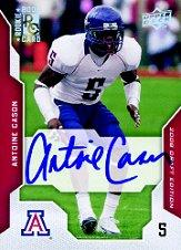 2008 Upper Deck Draft Edition Autographs #6OC Antoine Cason on-card
