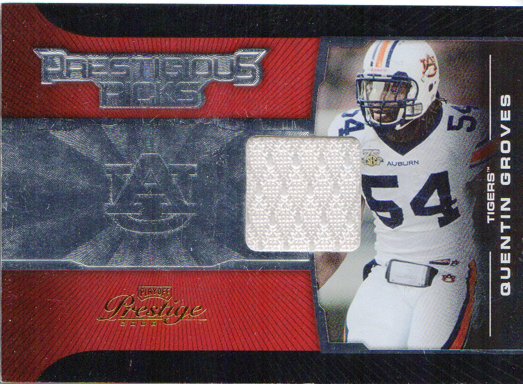 2008 Playoff Prestige Prestigious Picks Materials Red #9 Quentin Groves
