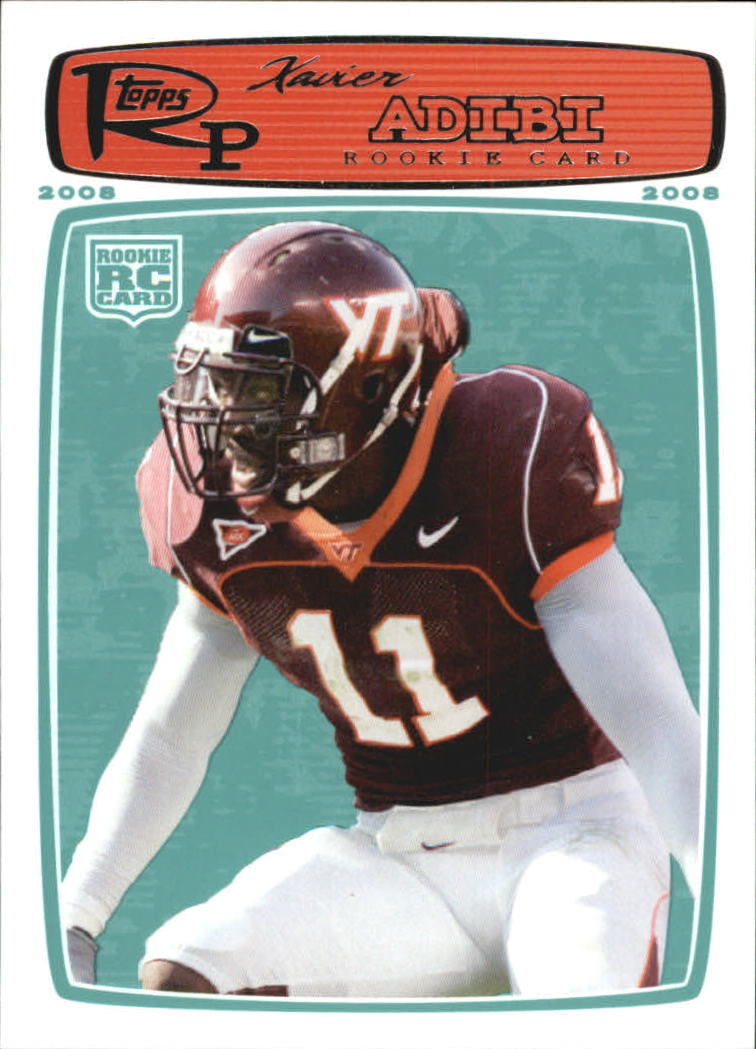 2008 Topps Rookie Progression #213 Xavier Adibi RC