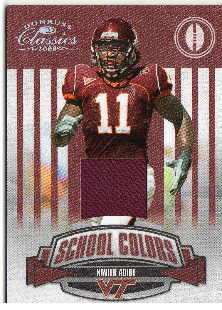 2008 Donruss Classics School Colors Jerseys #38 Xavier Adibi