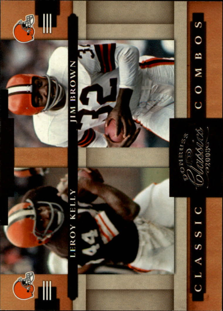 2008 Donruss Classics Classic Combos #6 Leroy Kelly/Jim Brown