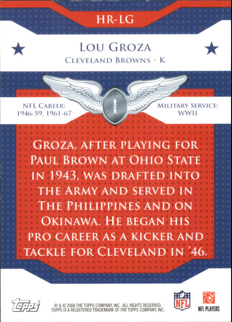 2008 Topps Honor Roll #HRLG Lou Groza