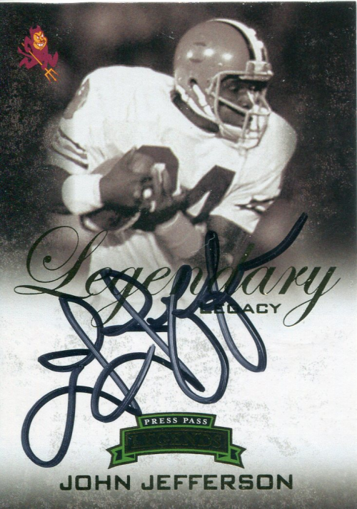 2008 Press Pass Legends Legendary Legacy Autographs Gold #LLJJ John Jefferson/372