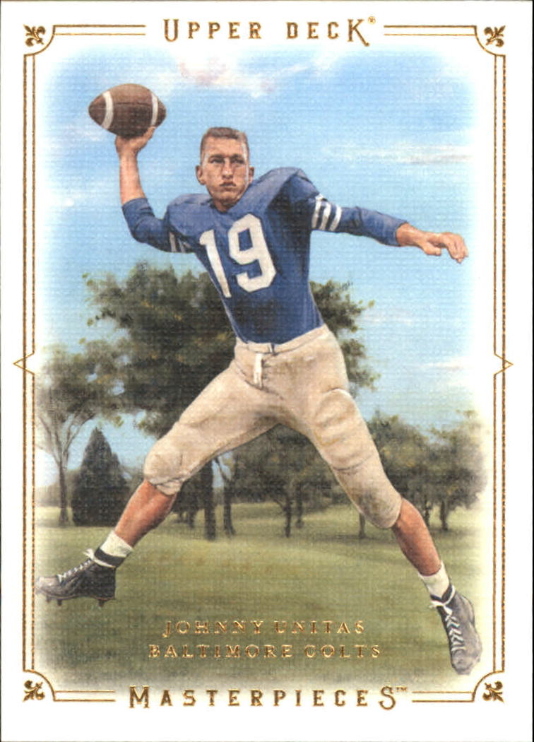 2008 Upper Deck Masterpieces Preview #MPP10 Johnny Unitas