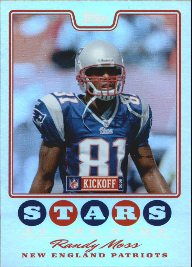2008 Topps Kickoff Stars of the Game #SGRM Randy Moss