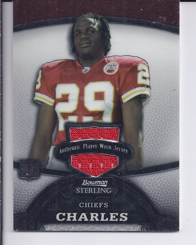 2008 Bowman Sterling #158A Jamaal Charles JSY RC