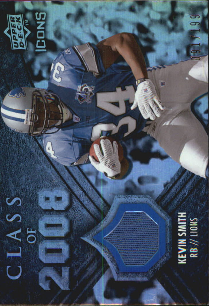 2008 Upper Deck Icons Class of 2008 Jersey Silver #CO23 Kevin Smith