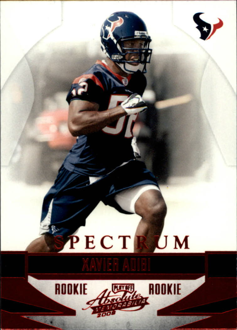 2008 Absolute Memorabilia Spectrum Red Retail #248 Xavier Adibi