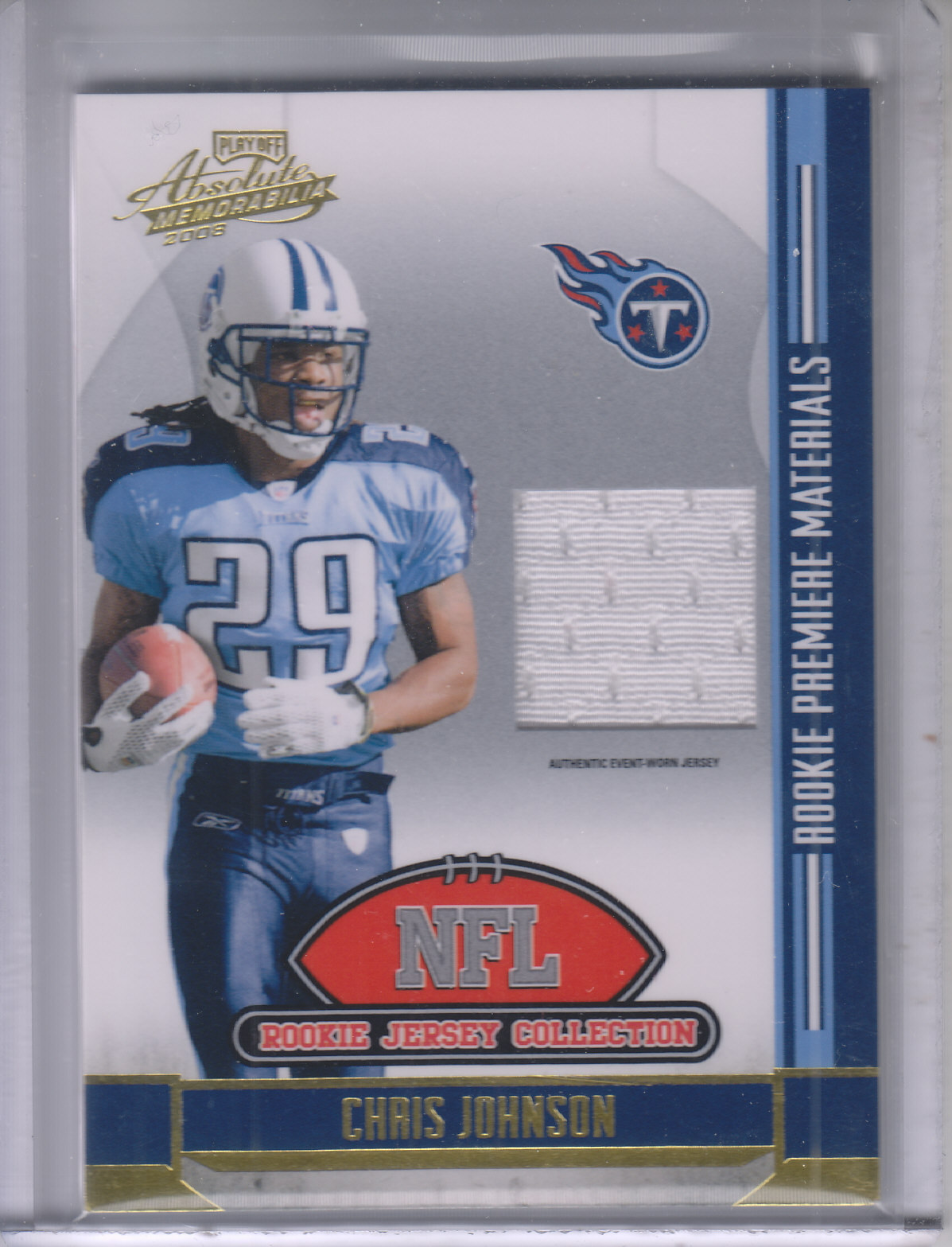 2008 Absolute Memorabilia Rookie Jersey Collection #2 Chris Johnson
