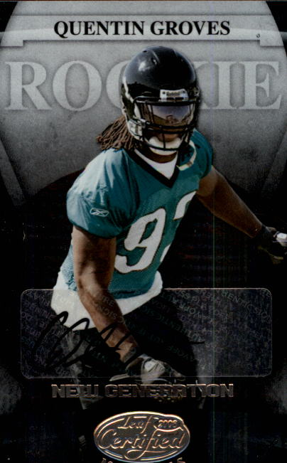 2008 Leaf Certified Materials #189 Quentin Groves AU/275 RC