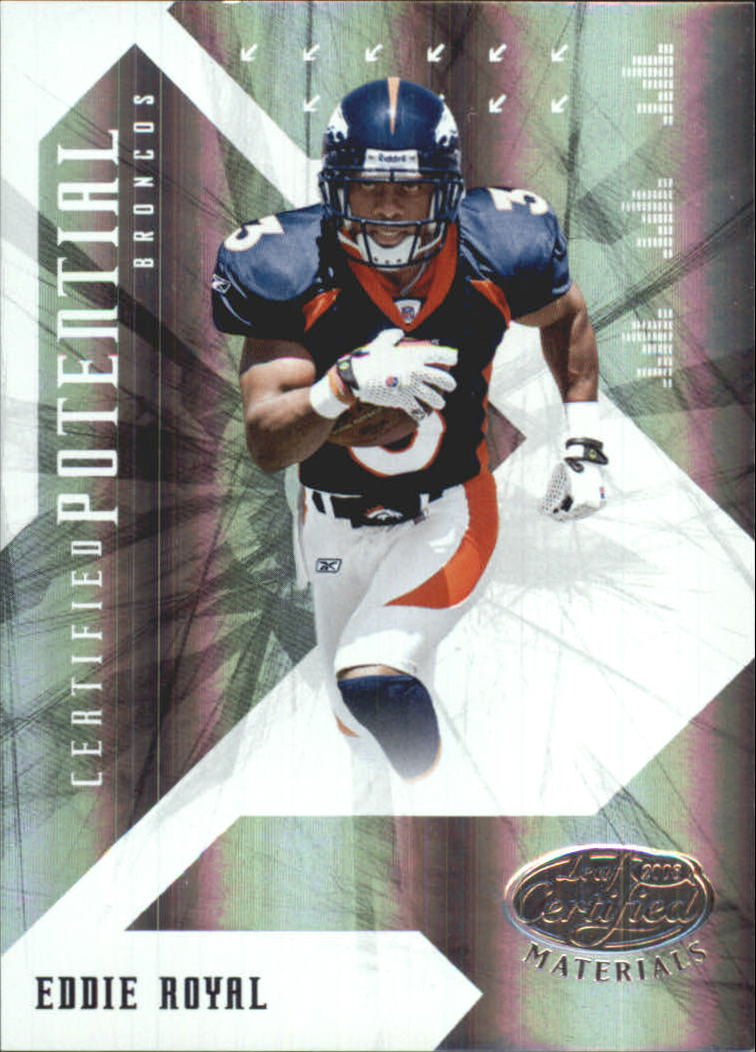 2008 Leaf Certified Materials Certified Potential Mirror #19 Eddie Royal