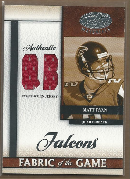 2008 Leaf Certified Materials Rookie Fabric of the Game Position #20 Matt Ryan