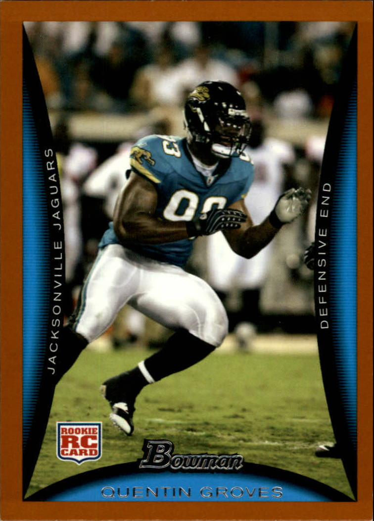 2008 Bowman Orange #116 Quentin Groves