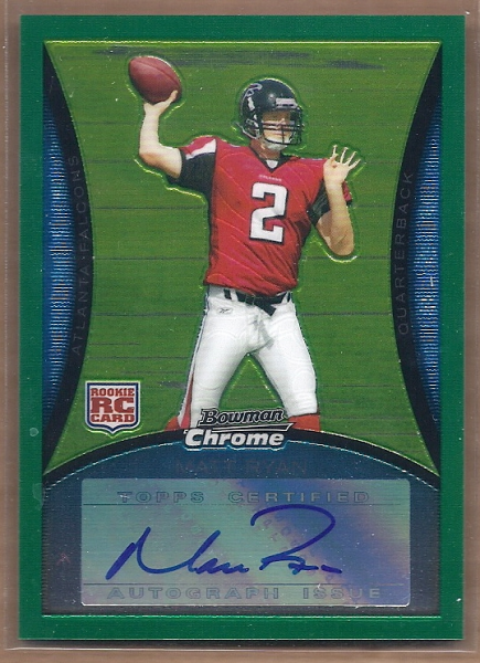 2008 Bowman Chrome Rookie Autographs Green #BC59 Matt Ryan