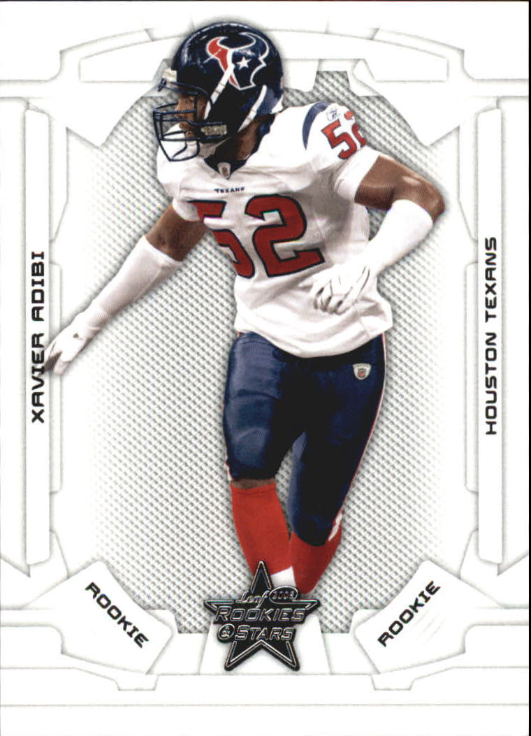 2008 Leaf Rookies and Stars #185 Xavier Adibi RC