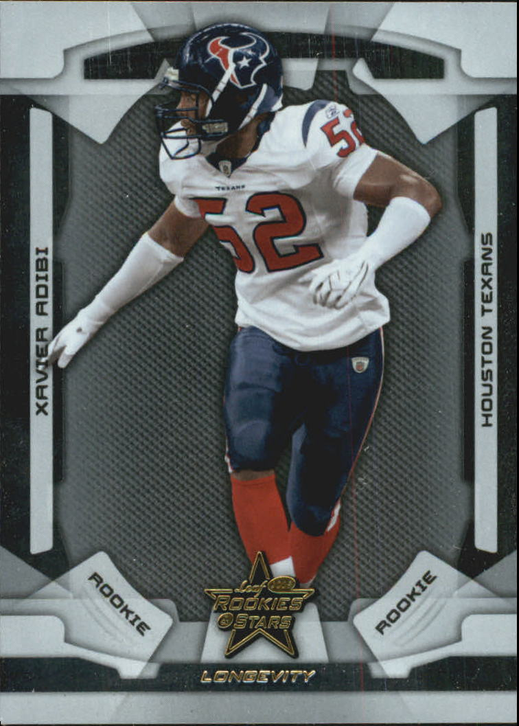 2008 Leaf Rookies and Stars Longevity #185 Xavier Adibi RC