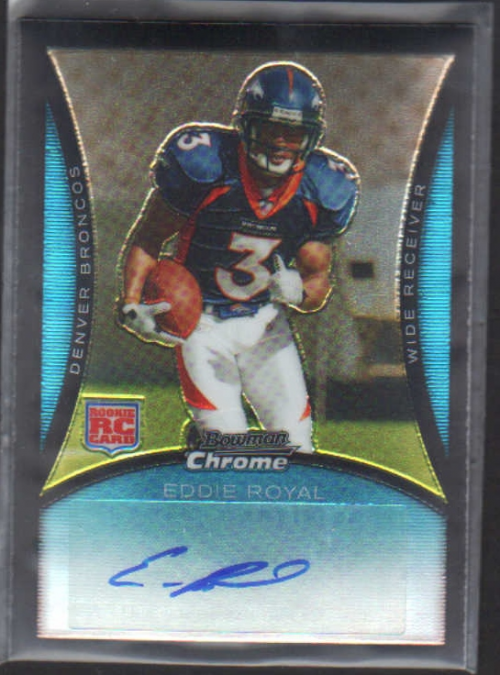 2008 Bowman Chrome Rookie Autographs #BC91 Eddie Royal D