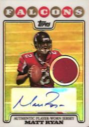 2008 Topps Rookie Premiere Jersey Autographs Refractors #RPARMR Matt Ryan