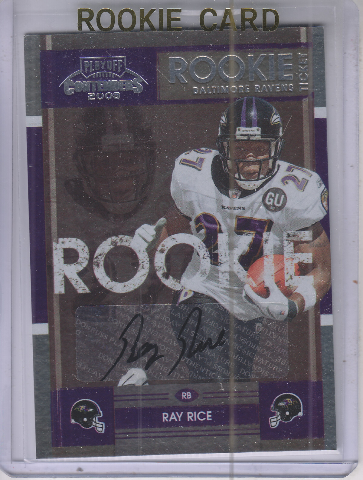 2008 Playoff Contenders #188 Ray Rice AU RC