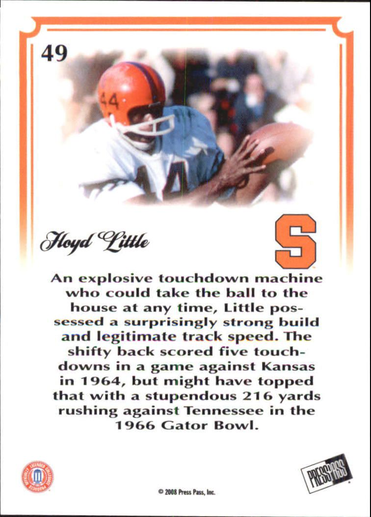 2008 Press Pass Legends Bowl Edition #49 Floyd Little back image