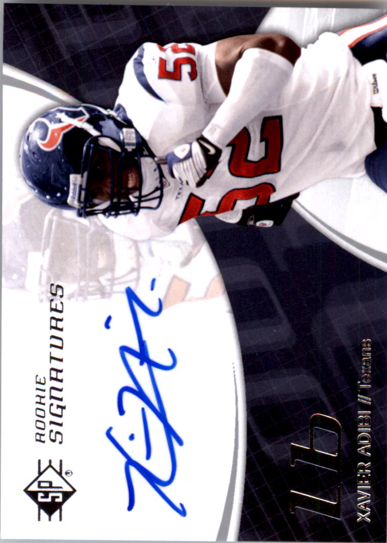 2008 SP Authentic Retail #160 Xavier Adibi AU RC