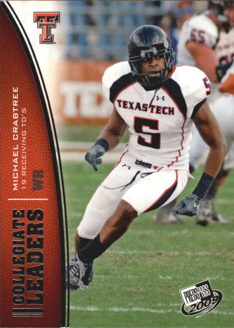 2009 Press Pass #63 Michael Crabtree LL