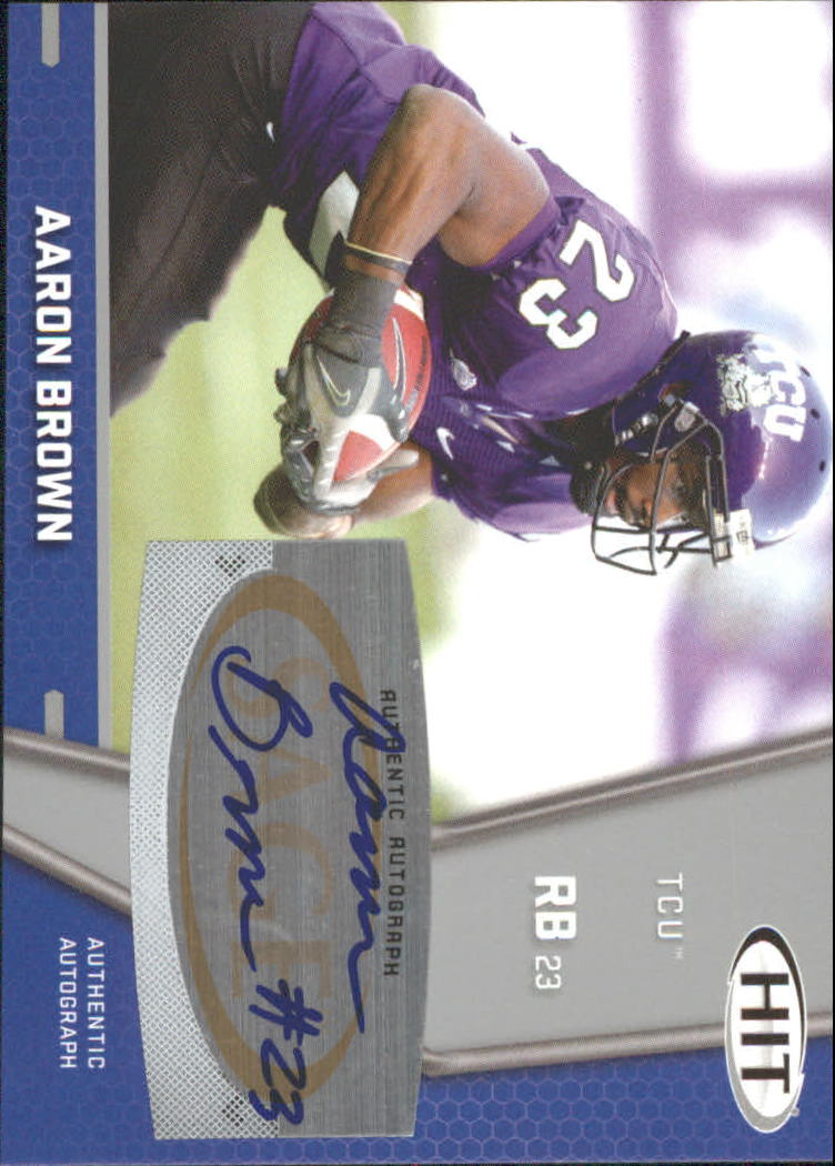 2009 SAGE HIT Autographs Silver #62 Aaron Brown