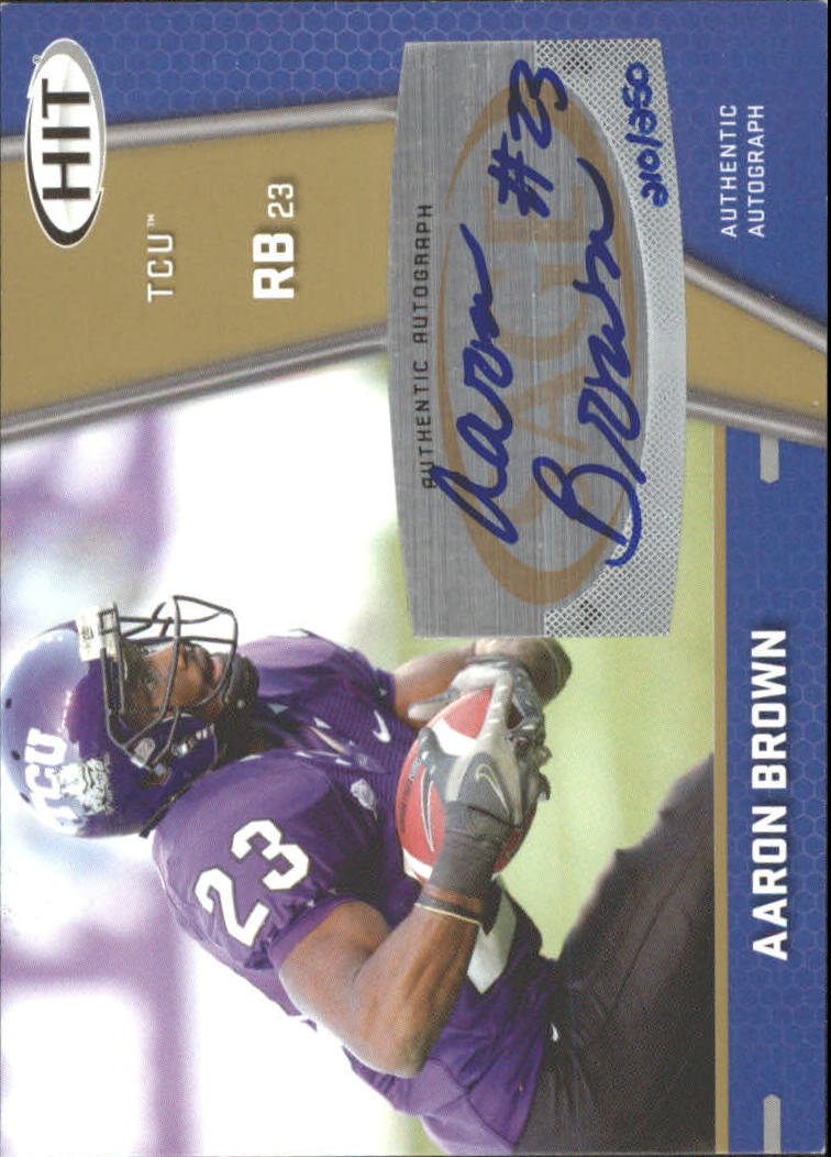 2009 SAGE HIT Autographs Gold #62 Aaron Brown