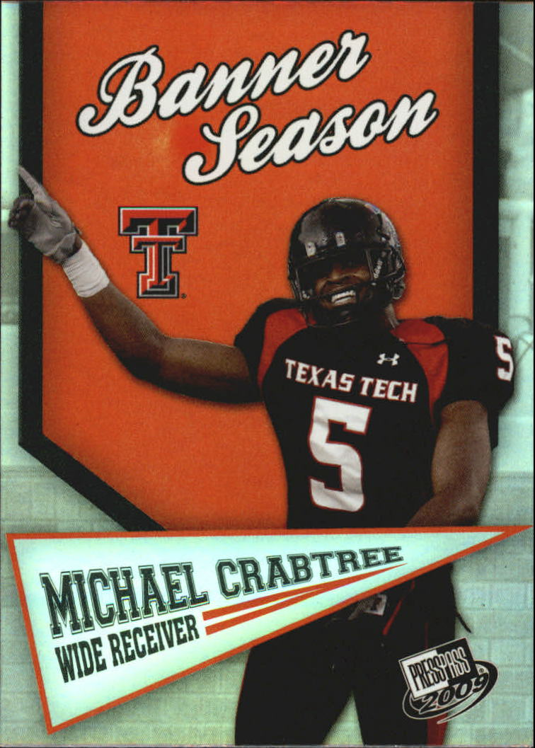 2009 Press Pass Banner Season #BS2 Michael Crabtree