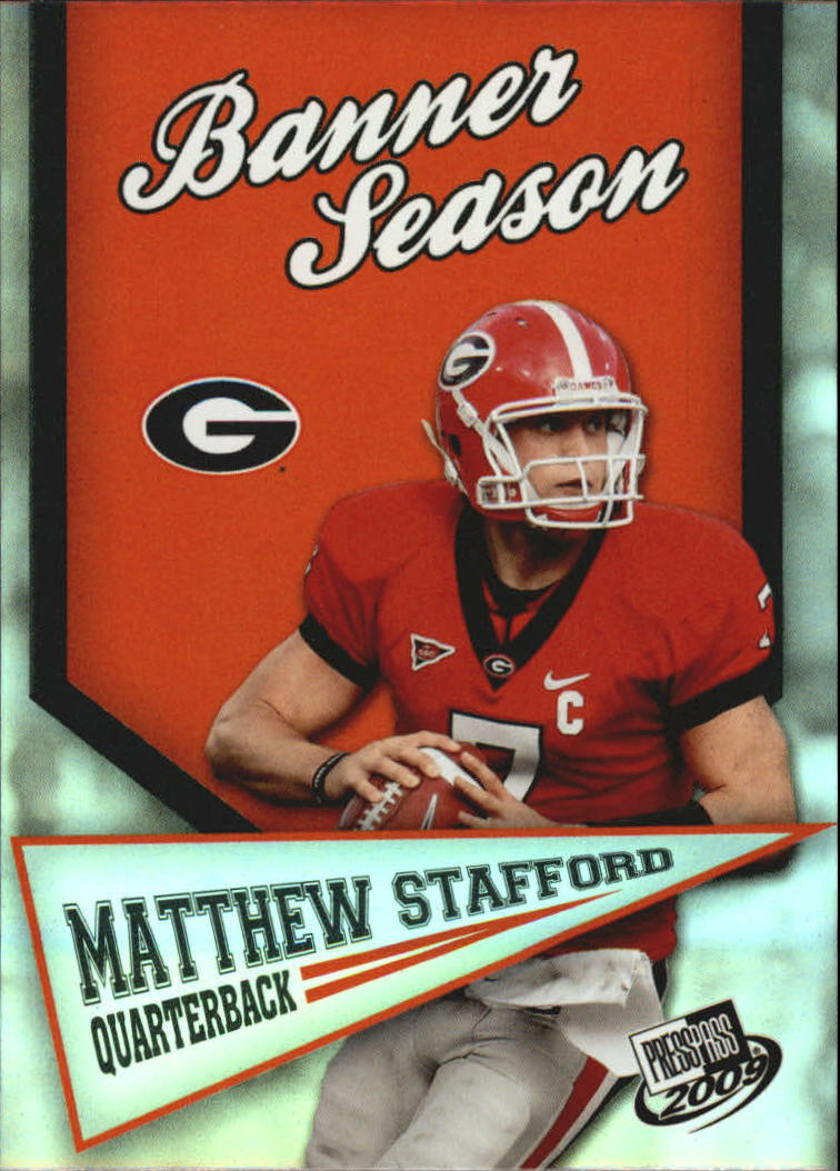 2009 Press Pass Banner Season #BS14 Matthew Stafford