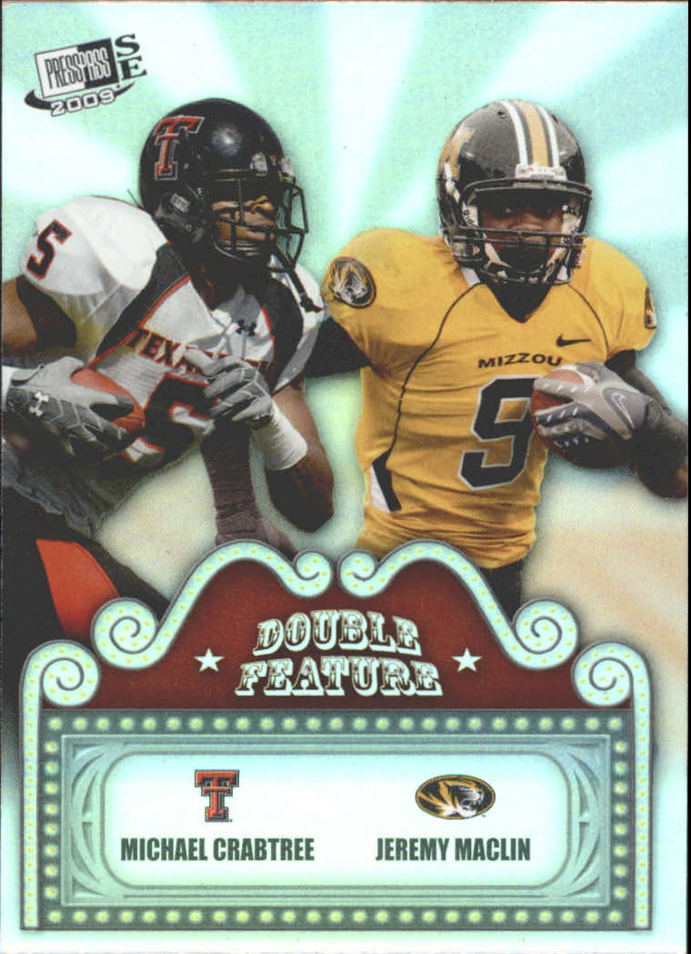 2009 Press Pass SE Double Feature #DF3 Michael Crabtree/Jeremy Maclin