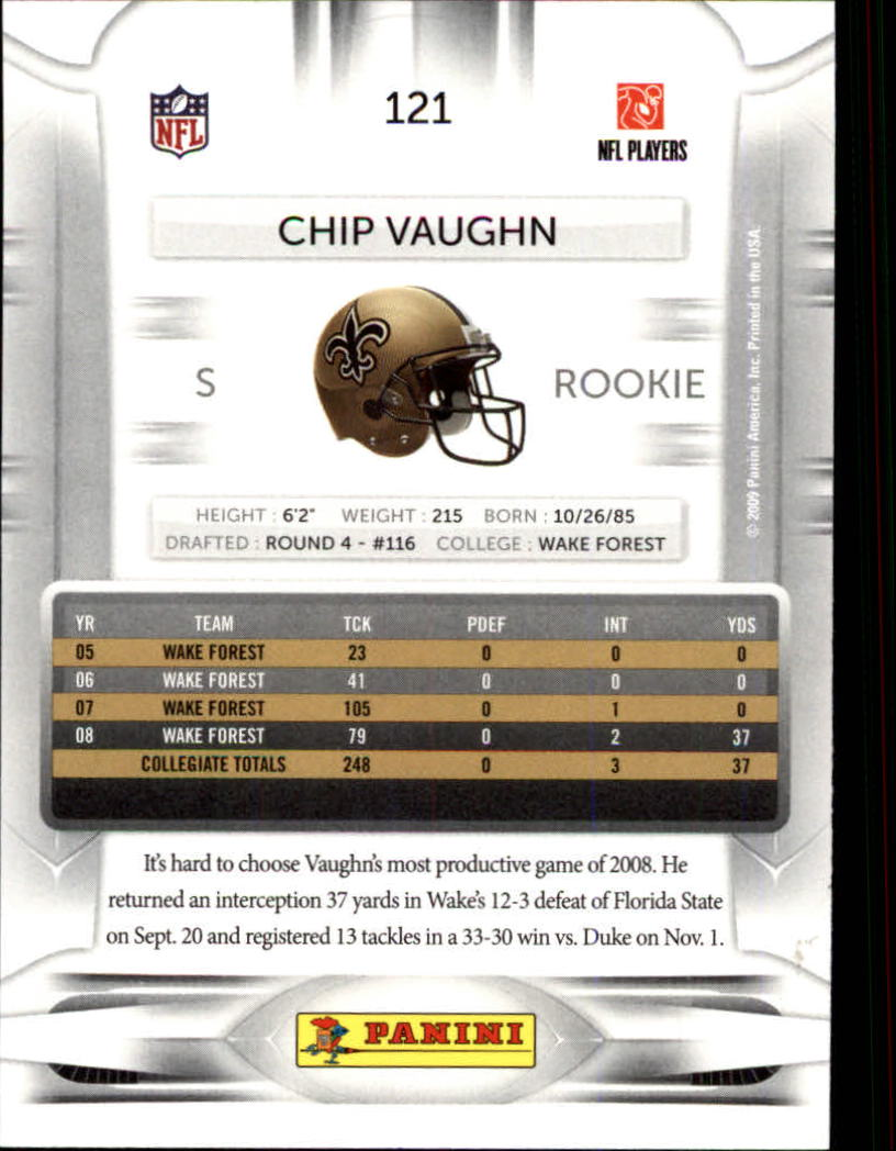 2009 Playoff Prestige #121 Chip Vaughn RC