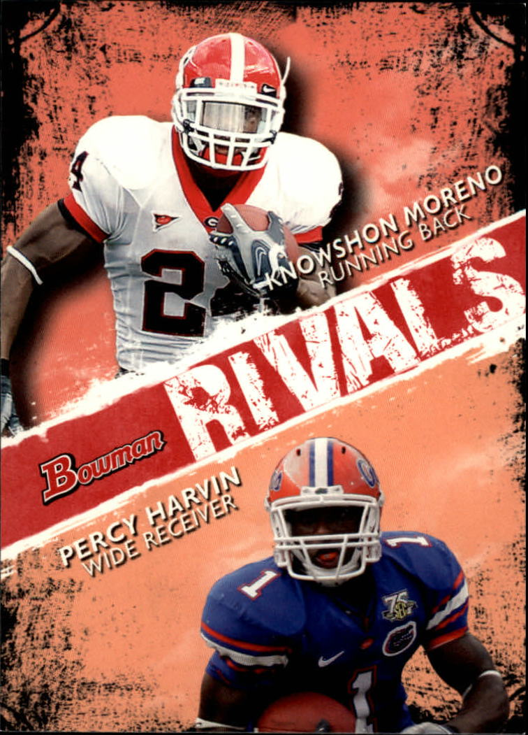 2009 Bowman Draft Rivals #R5 Knowshon Moreno/Percy Harvin
