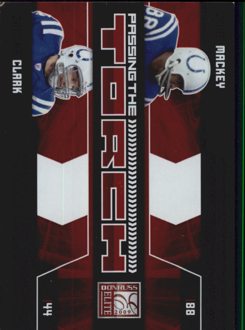 2009 Donruss Elite Passing the Torch Red #15 John Mackey/Dallas Clark