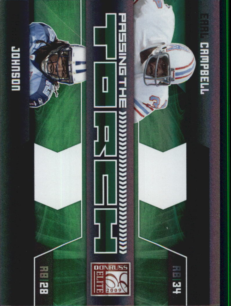 2009 Donruss Elite Passing the Torch Green #8 Earl Campbell/Chris Johnson