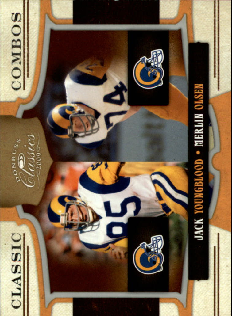 2009 Donruss Classics Classic Combos Silver #5 Jack Youngblood/Merlin Olsen