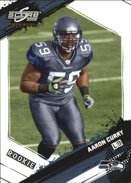 2009 Score Inscriptions #302 Aaron Curry RC