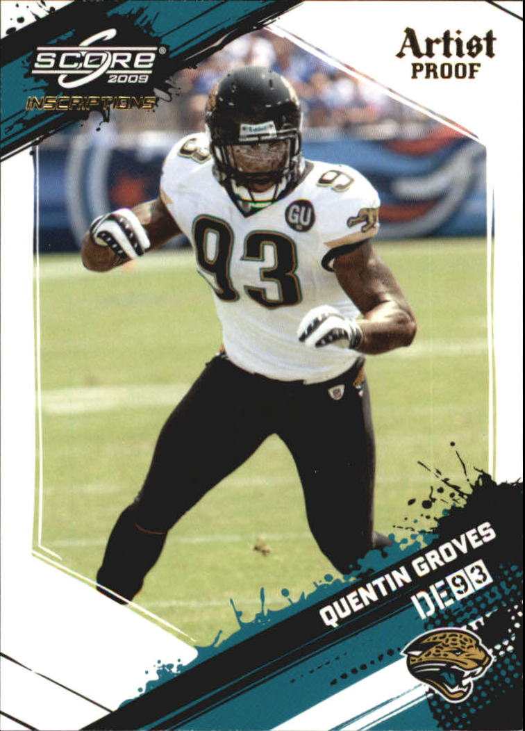 2009 Score Inscriptions Artist's Proof #139 Quentin Groves