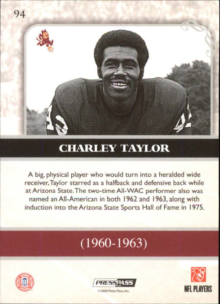 2009 Press Pass Legends #94 Charley Taylor back image
