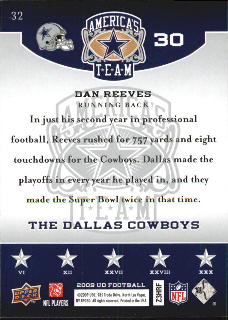 2009 Upper Deck America's Team #32 Dan Reeves