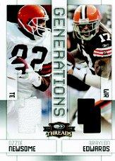 2009 Donruss Threads Generations Materials #1 Ozzie Newsome/250/Braylon Edwards front image