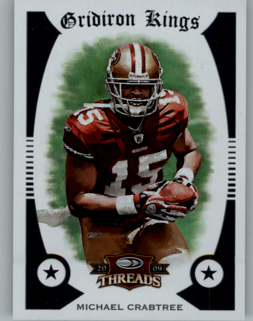 2009 Donruss Threads Pro Gridiron Kings #53 Michael Crabtree
