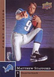 2009 Upper Deck First Edition #180 Matthew Stafford RC