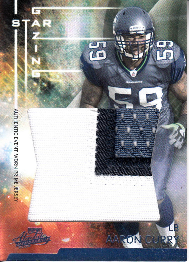 2009 Absolute Memorabilia Star Gazing Materials Oversize Spectrum Prime #23 Aaron Curry