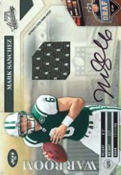 2009 Absolute Memorabilia War Room Materials Autographs #12 Mark Sanchez